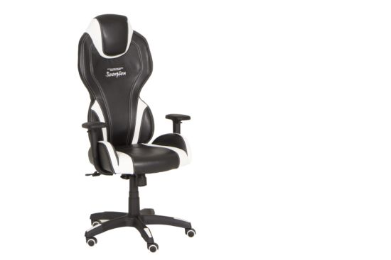 Gaming chair Scorpion zwart wit