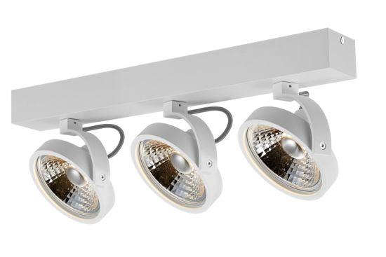 LED spot met 3 spots 12W AR111 wit