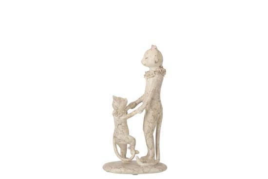 Beeld Kat met kitten H28cm