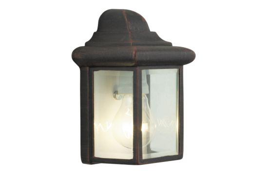 Wandlamp buiten Newport roestbruin 60W E27