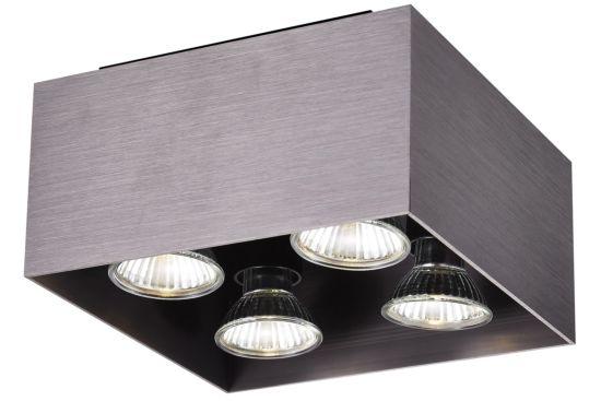 LED spot met 4 spots 5W GU10 brons