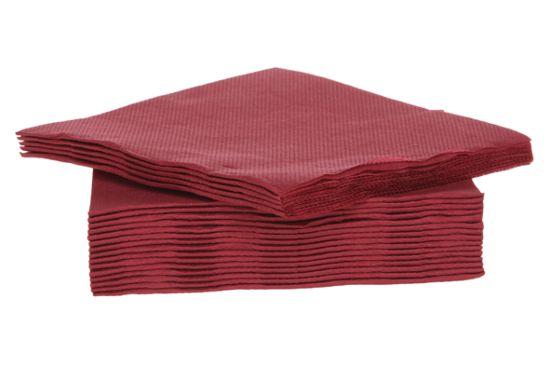 Servet CT Prof 25x25cm rood, 40 stuks