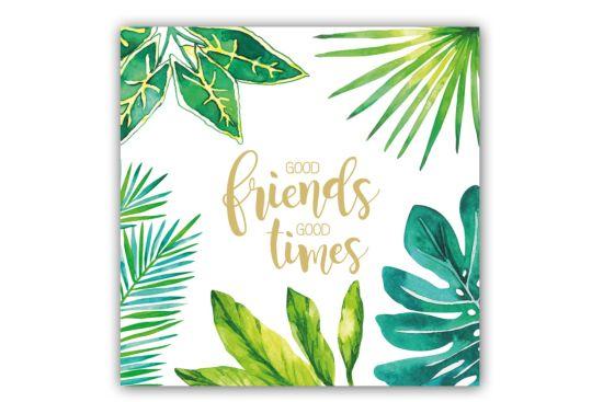 Servet Jungle Good Friends 25x25cm groen 20 stuks