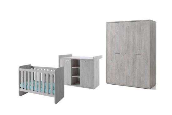 Babykamer Vic met 3-deurs kast