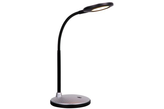 Bureaulamp zwart zilver LED