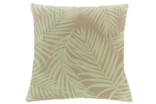 Kussen Palm blad 45x45cm roze