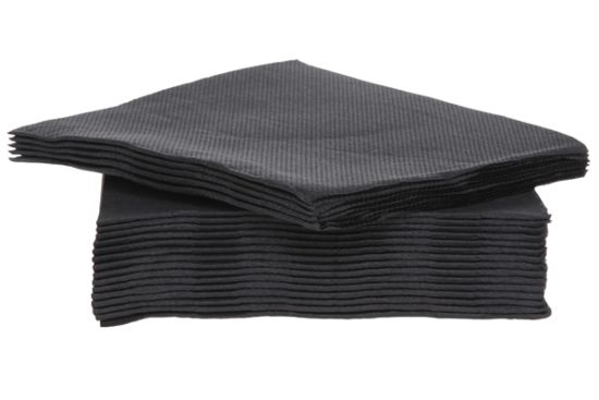 Servet CT Prof 25x25cm zwart, 40 stuks