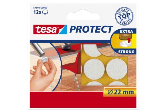 Beschermviltjes tesa Ø2,2cm wit