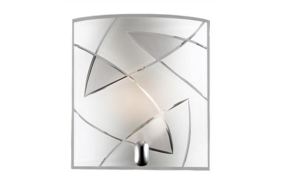 Wandlamp chroom transparant 60W E27
