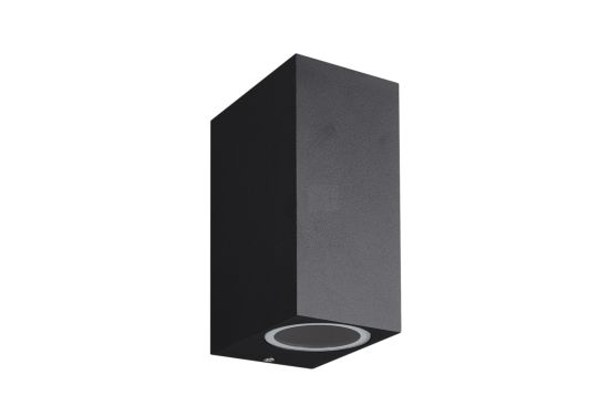 Wandlamp zwart 2x35W GU10