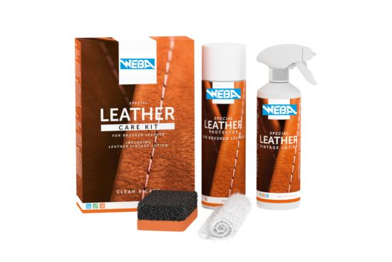 Leather care kit geborsteld leder