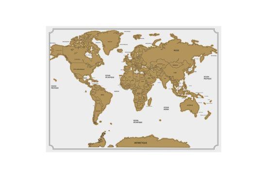 Wanddecoratie Scratch Map 59x82cm