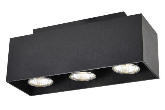 LED spot met 3 spots 5W GU10 zwart