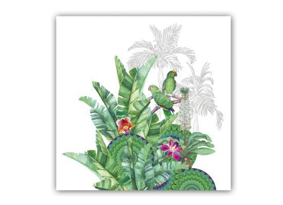 Servet Tropicale 33x33cm groen 20 stuks