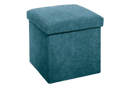 Poef 38x38cm blauw