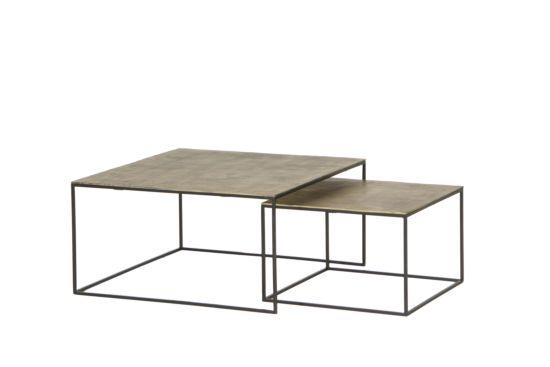Salontafel Norfolk set van 2 vierkant 87x87cm
