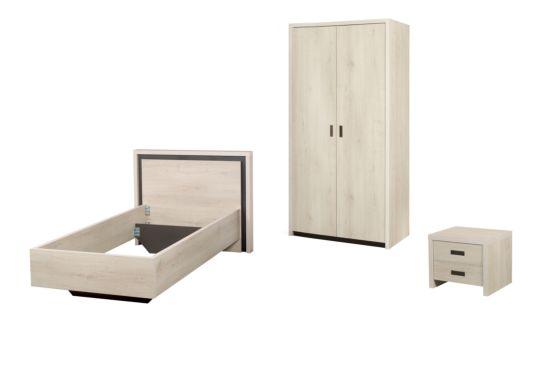 Kinderkamer met 2-deurskast