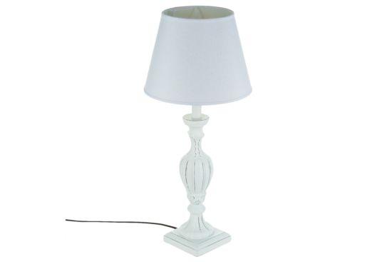 Tafellamp E27 Ø25xH55cm wit