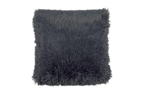 Kussen Fluffy 45x45cm donkergrijs