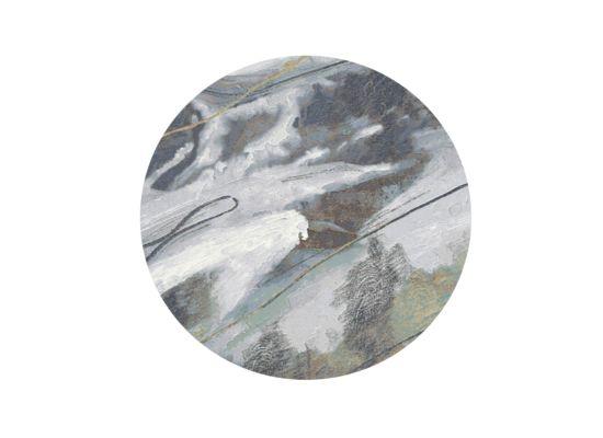 Tapijt Aspero Ø120cm laagpolig