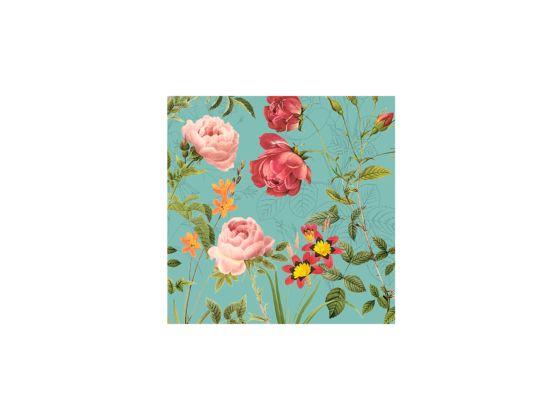 Servet Mademoiselle 33x33cm turquoise 20 stuks