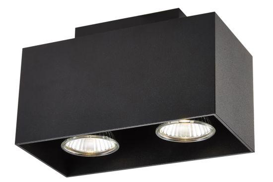 LED spot met 2 spots 5W GU10 zwart