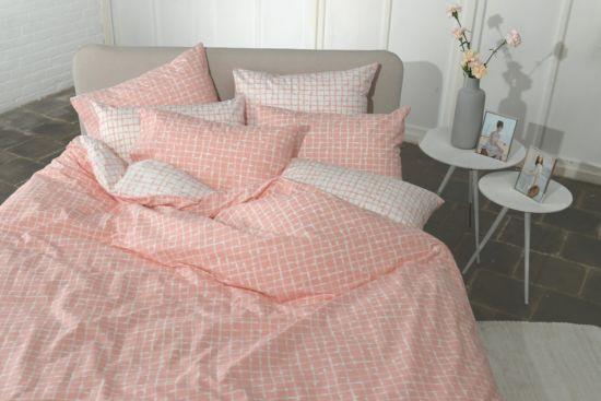 Dekbedovertrek Netting Pink 240x220cm katoen