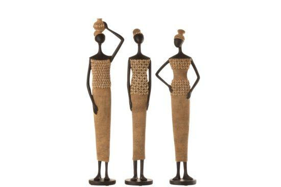 Beeldje Afrikaanse figuur H59cm