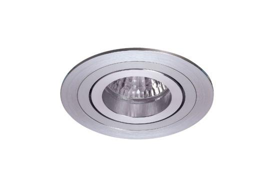 Inbouwspot LED rond brushed aluminium 5W GU10
