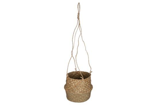Hangende bloempot Seagrass H18cm