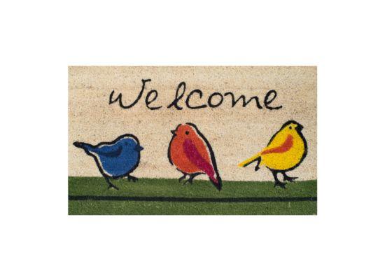 Deurmat Welcome Birds 45x75cm
