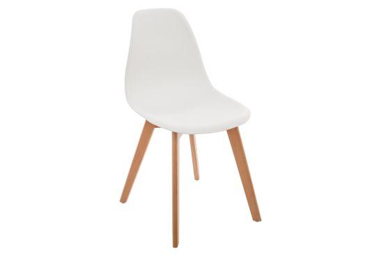 Kinderstoel kunststof wit
