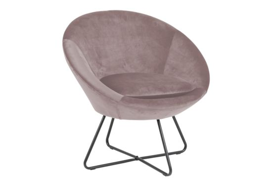 Fauteuil stof dusty rose