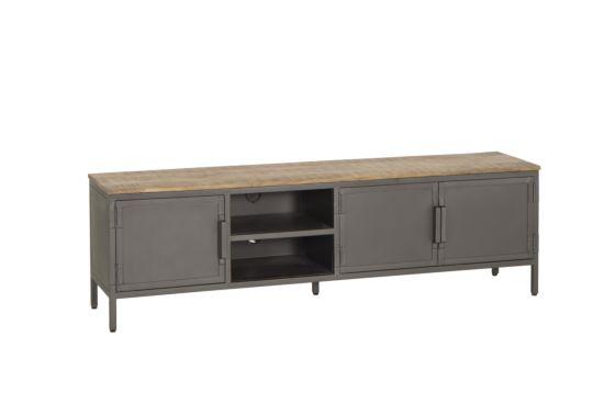 Industrieel tv-meubel Zarathustra hout metaal 180cm