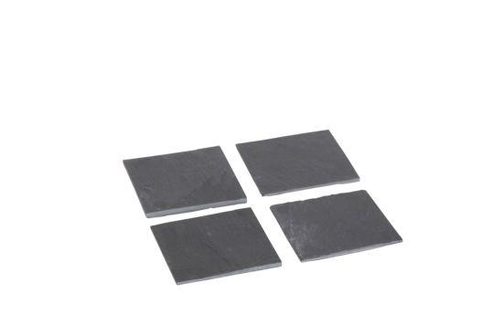 Onderzetters voor glazen 10x10cm, set van 4