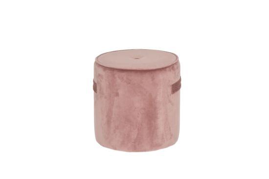 Poef Alpha Ø38cm stof roze