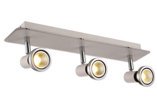 LED spot met 3 spots 5W GU10 chroom wit