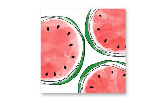 Servet Melons 25x25cm rood