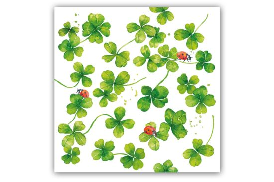 Servet Luck 25x25cm groen 20 stuks