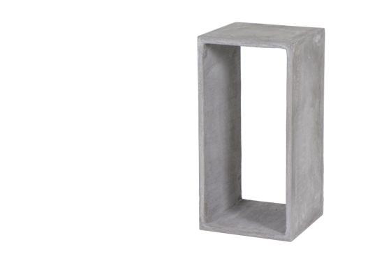 Bijzettafel Soko 30x30x60cm glasvezel/beton lichtgrijs