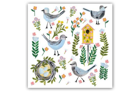 Servet Beauty Nest 33x33cm multicolor 20 stuks
