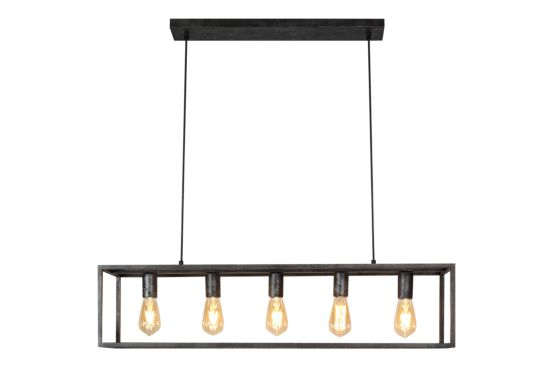 Hanglamp Piazza 96x22x100cm 5x40W E27