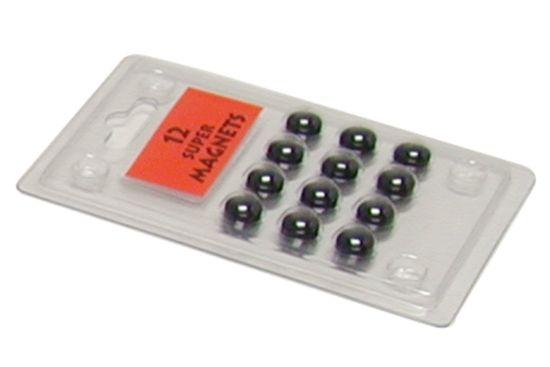 Magneten zwart, set van 12