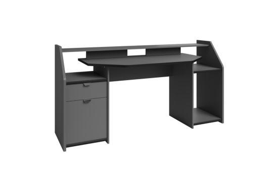 Bureau Set Up/Gaming 180x67cm donkergrijs