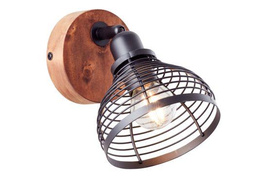Wandlamp Avia zwart bruin 40W E14