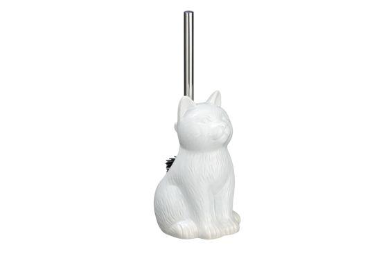 Wc-borstel Cat wit
