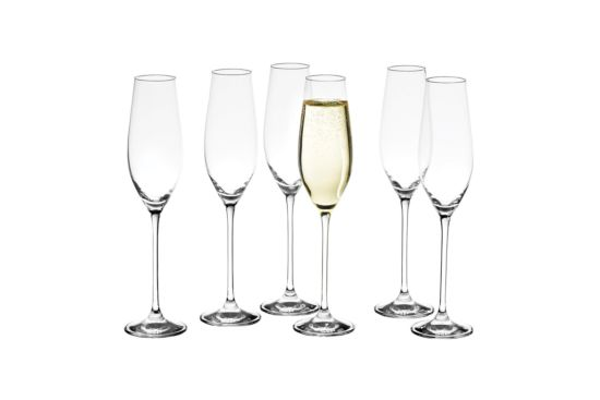 Champagneglas Cuvee 21cl, set van 6