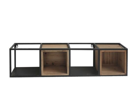 Wandrek Bazaar 80x15x20cm zwart bruin