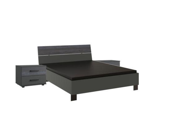 Bed Goteborg 160x200cm inclusief nachttafels