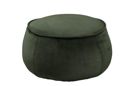 Poef Ø60x34cm donker groen